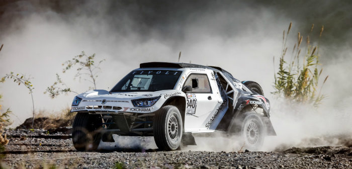 Ssangyong, Tivoli, Dakar, 2018, buggy, RWD, new competition car, tires