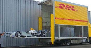 Formula E, logistics, DHL, shipping