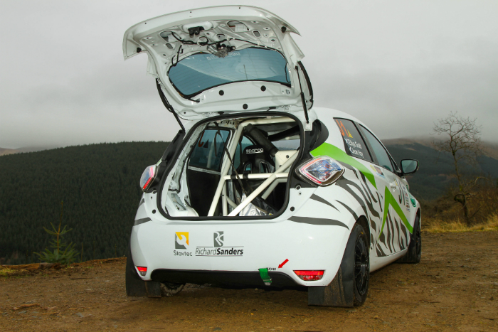 Cameron Davies, eRally, electric motorsport, Renault, Zoe, off road, new competition car