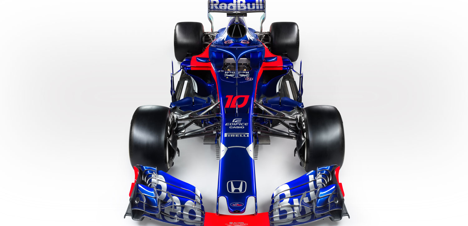 toro rosso honda reveals its 2018 car in barcelona pmw magazine. Black Bedroom Furniture Sets. Home Design Ideas