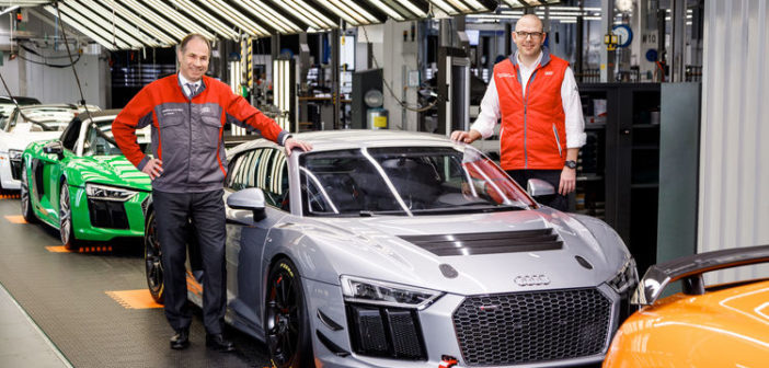 50th Audi R8 LMS GT4 produced at Böllinger Höfe