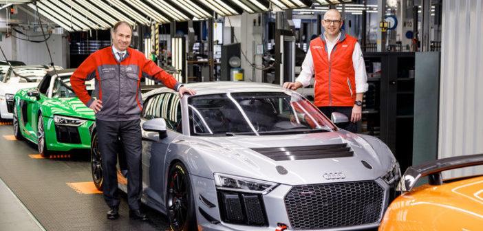 50th Audi R8 LMS GT4 produced at Böllinger Höfe