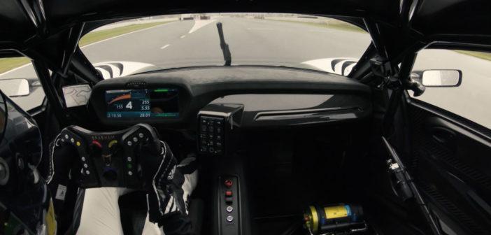 Brabham BT62 undergoes dynamic testing at The Bend