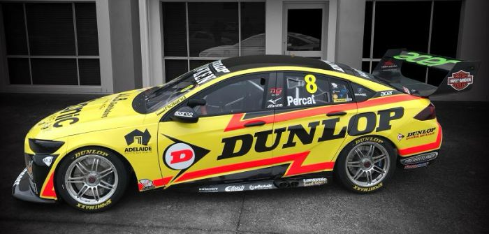 Dunlop Racing livery on Brad Jones Racing Holden in Townsville