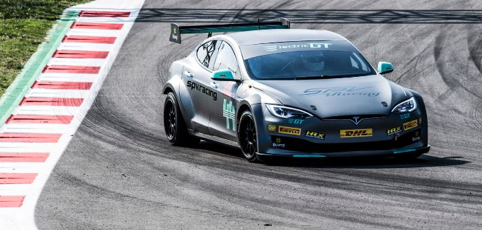 Tesla Model S touring car debuts in Barcelona