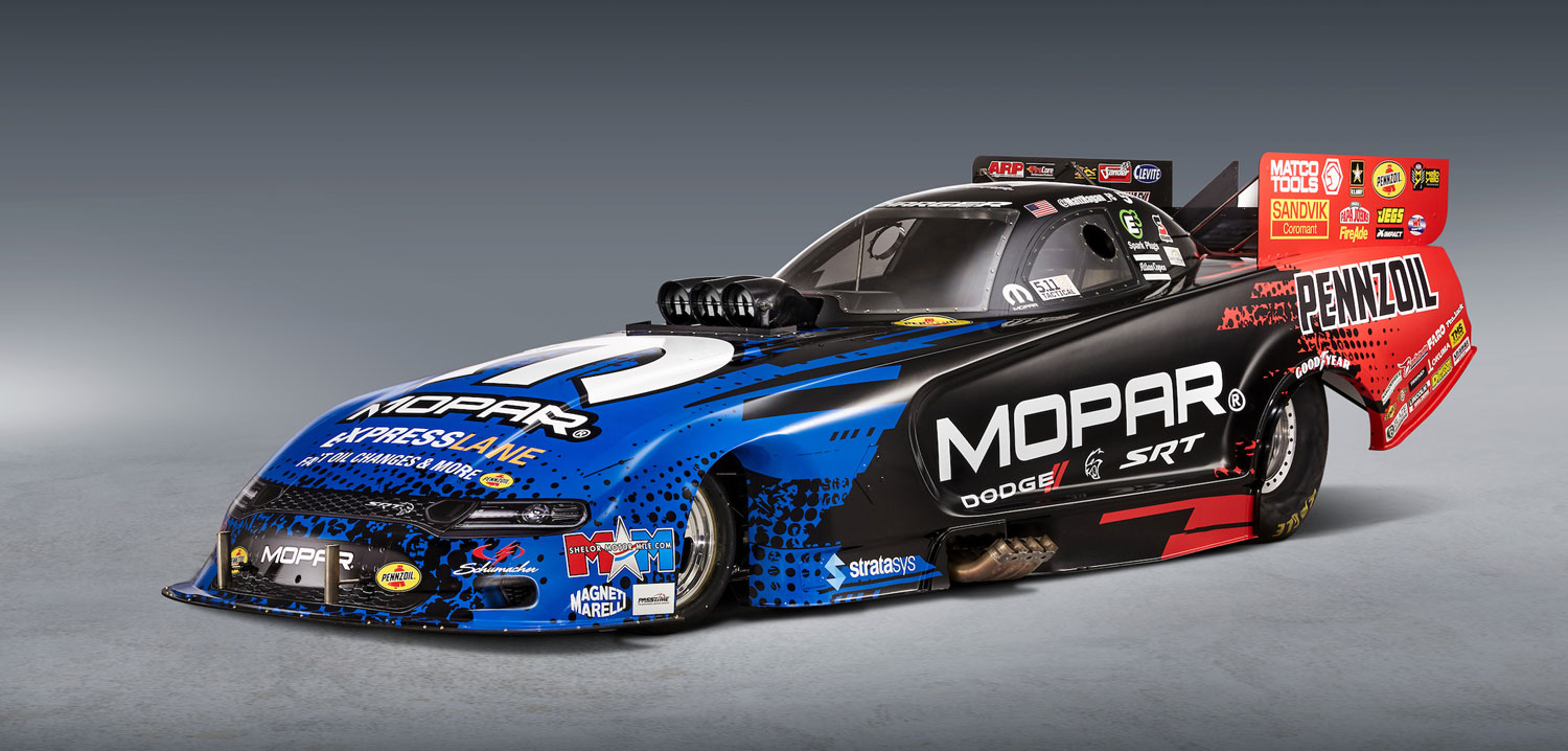 Mopar And Dodge Charger Srt Hellcat Nhra Funny Car Makes Its Debut Pmw