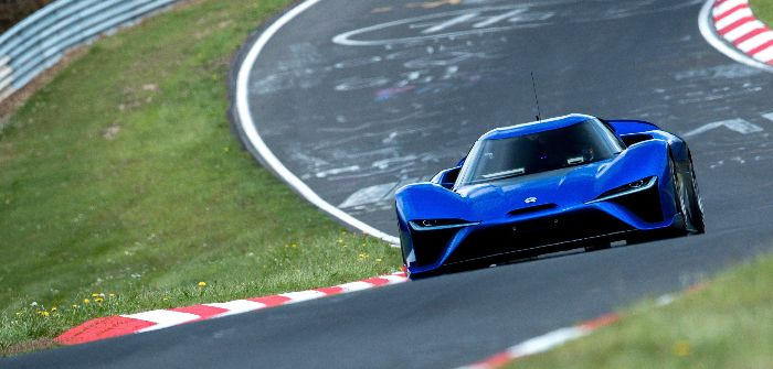 Nio EP9 sets second-fastest electric time up Goodwood Hillclimb