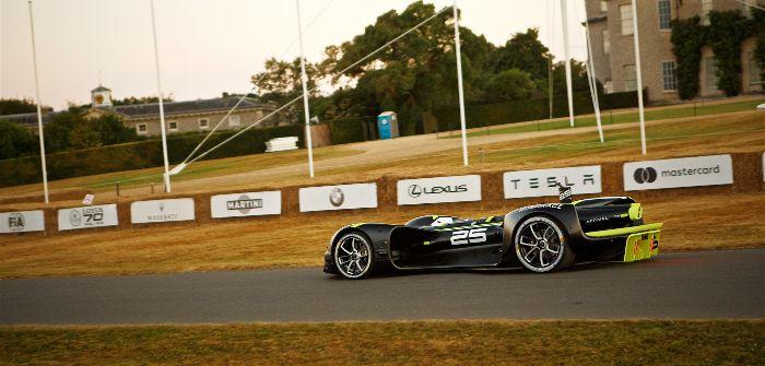 Autonomous Robocar race car completes Goodwood Festival of Speed hillclimb