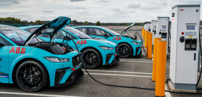 Jaguar I-Pace eTrophy Series forms charging partnership with ABB