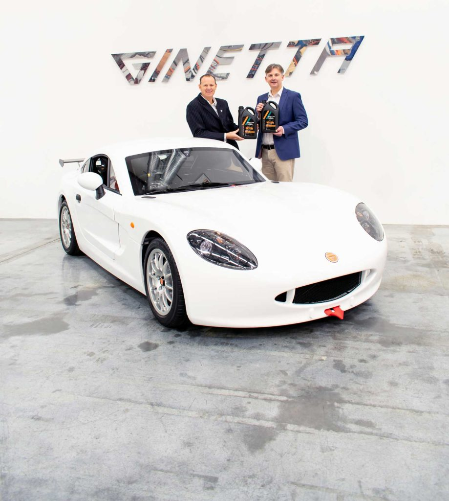 Millers Oils named as technical partner to Ginetta