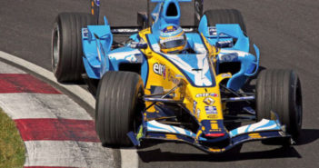 Alonso in Renault car