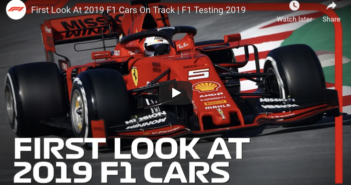Video: First look at 2019's F1 cars on track
