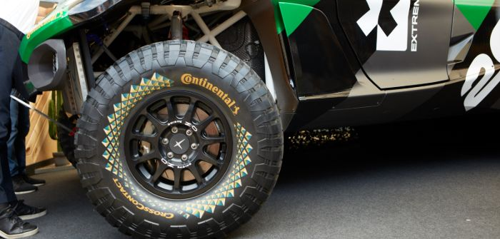 Continental reveals Extreme E off-road racing tires