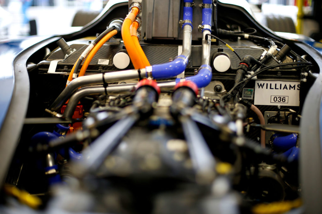 Williams batteries in Formula E car