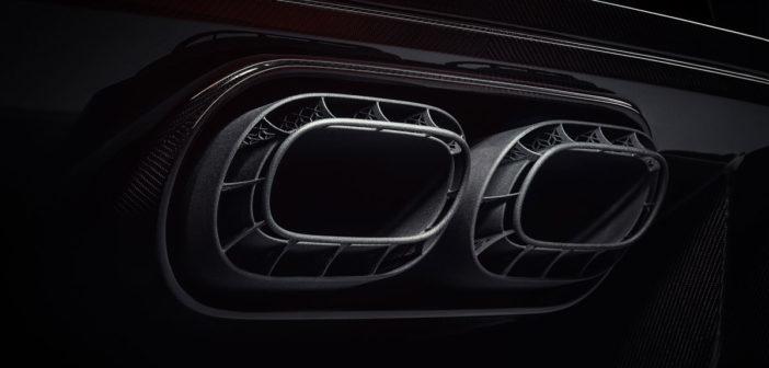 APWorks manufactures Bugatti Chiron Pur Sport titanium exhaust